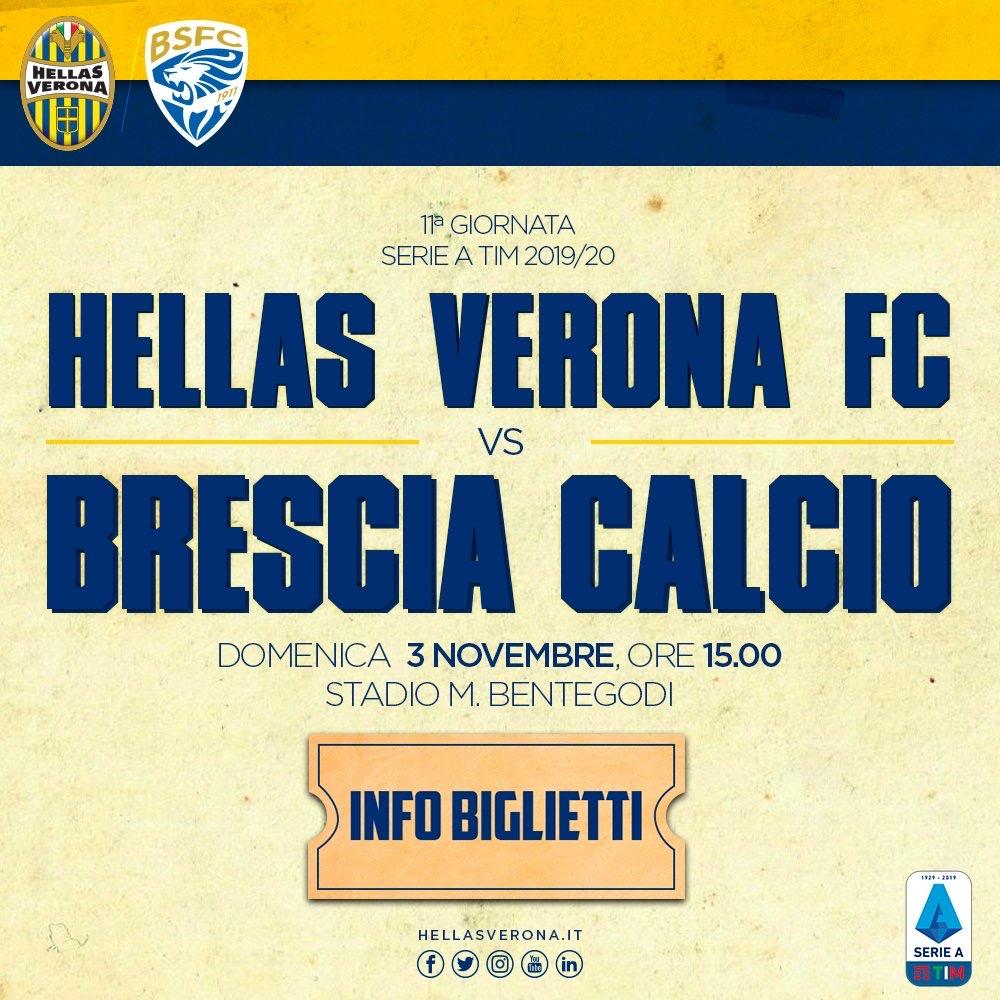 Verona - Brescia, info biglietti - Hellas News